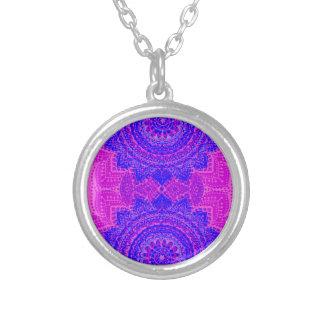 Teste padrão indiano cor-de-rosa e roxo feminino bijuterias