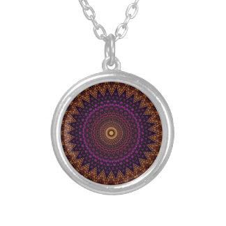 teste padrão indiano da mandala do mehndi colar com pendente redondo