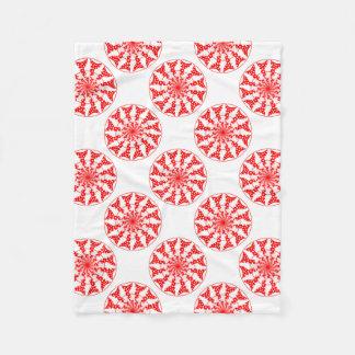 Teste padrão isolado mandala cobertor de velo
