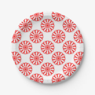 Teste padrão isolado mandala prato de papel
