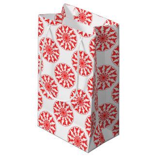 Teste padrão isolado mandala sacola para presentes pequena