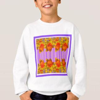 Teste padrão laranja-amarelo do roxo do Lilac dos Agasalho