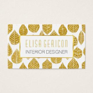 Teste padrão largo das folhas do brilho moderno, cartão de visitas