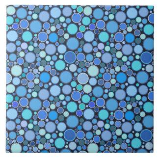 Teste padrão legal das bolhas do azul