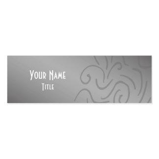 Teste padrão legal do abstrato da prata cartão de visita skinny