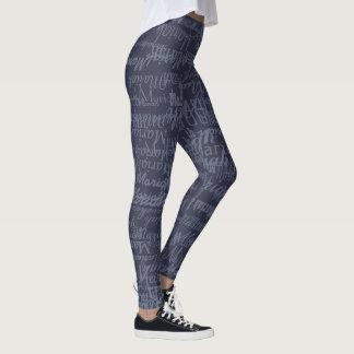 teste padrão legal do substantivo apropriado leggings
