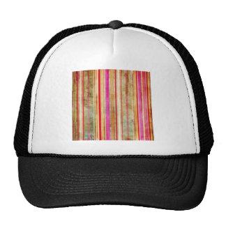 Teste padrão listrado colorido boné