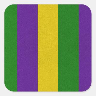 Teste padrão listrado do carnaval adesivo quadrado