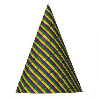 Teste padrão listrado do carnaval chapéu de festa