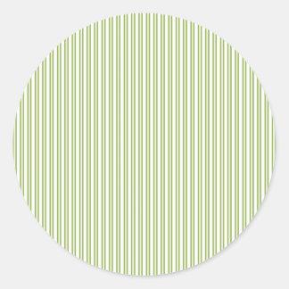 Teste padrão listrado do Pin do verde moderno Adesivo Em Formato Redondo