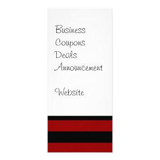 Teste padrão listrado grosso vermelho e preto da c modelos de panfletos informativos
