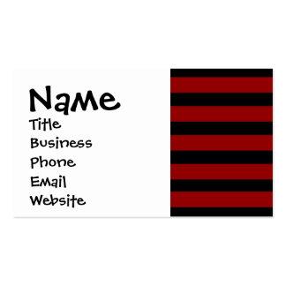 Teste padrão listrado grosso vermelho e preto da cartão de visita