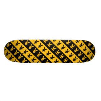 Teste padrão listrado preto & alaranjado de sinais shape de skate 18,1cm