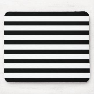 Teste padrão listrado preto e branco do Jailbird d Mousepad