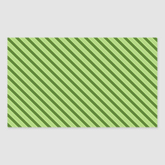 Teste padrão listrado verde múltiplo adesivo retangular