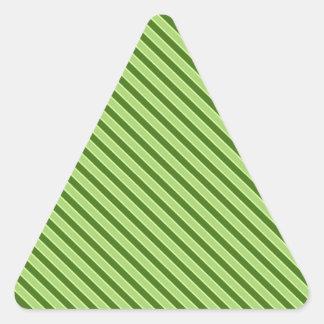 Teste padrão listrado verde múltiplo adesivo triangular