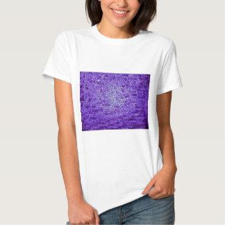 Teste padrão malva roxo do vitral da cor camiseta