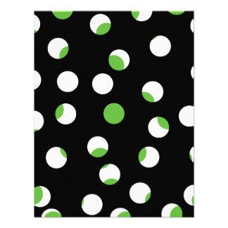 Teste padrão manchado preto branco e verde convites personalizados