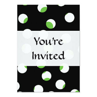 Teste padrão manchado preto, branco e verde convite 12.7 x 17.78cm