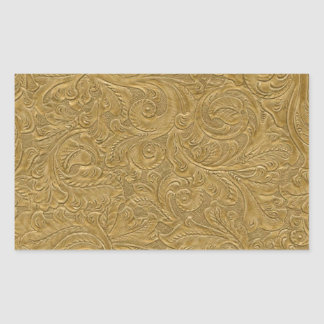 Teste padrão metálico dos redemoinhos do ouro adesivo retangular