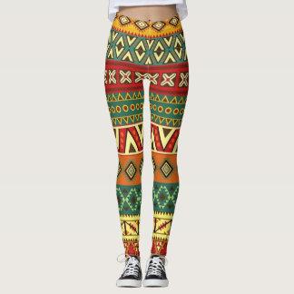 Teste padrão mexicano da arte popular leggings