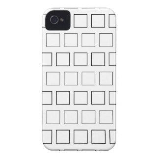 Teste padrão minimalista preto e branco quadrado capa para iPhone 4 Case-Mate