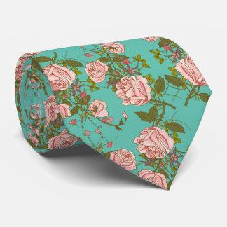 Teste padrão Minty retro das videiras do vintage Gravata