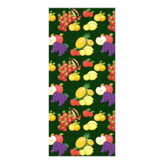 Teste padrão misturado das frutas 10.16 x 22.86cm panfleto