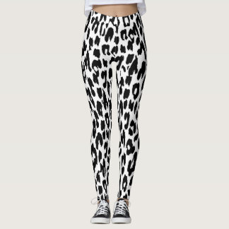 Teste padrão moderno #18 da pele do leopardo leggings