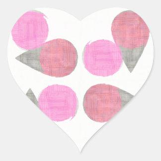 Teste padrão moderno da lágrima adesivo coração