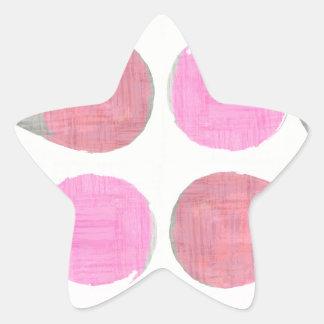 Teste padrão moderno da lágrima adesivo estrela