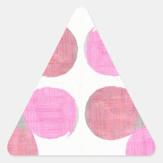 Teste padrão moderno da lágrima adesivo triangular