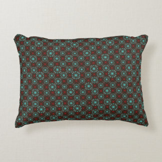 Teste padrão moderno do vermelho de turquesa de almofada decorativa
