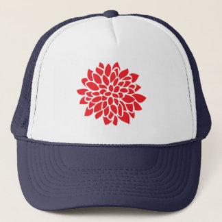 Teste padrão moderno floral vermelho boné