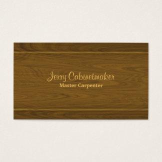 Teste padrão moldando de madeira da carpintaria cartão de visitas