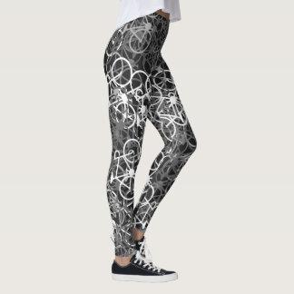 Teste padrão monocromático das bicicletas - as legging