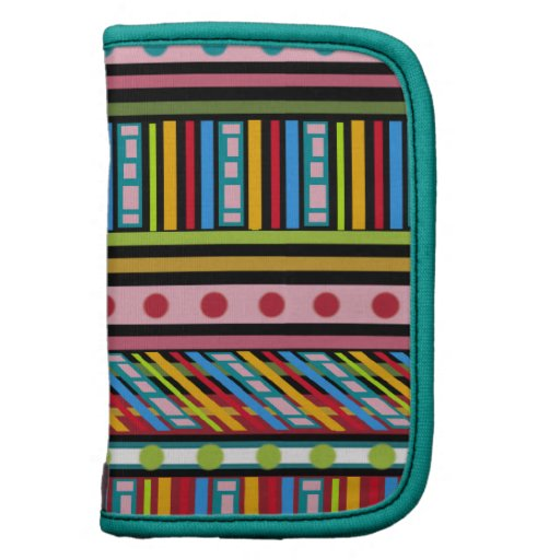 Teste padrão multicolorido, mini caso in-folio na  agendas