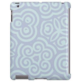 Teste padrão na moda azul capa para iPad