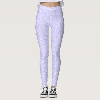 Teste padrão nebuloso malva leggings