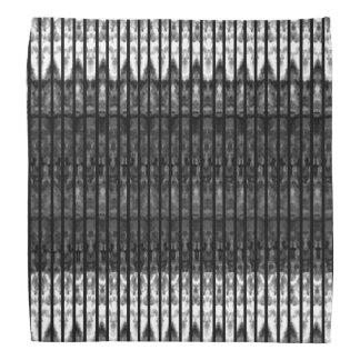 Teste padrão no Bandana preto do branco de n