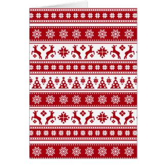 Teste padrão nórdico do feriado do Natal acolhedor Cartão