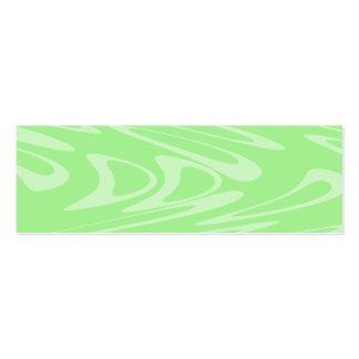 Teste padrão ondulado verde cartoes de visita