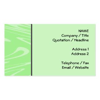 Teste padrão ondulado verde cartão de visita