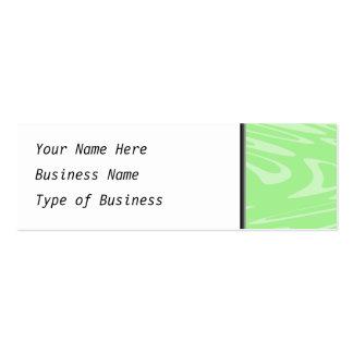 Teste padrão ondulado verde cartão de visita skinny
