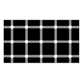 Teste padrão óptico preto e branco moderno cartoes de visitas