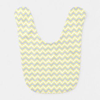 Teste padrão Pastel de Chevron Babador Infantil
