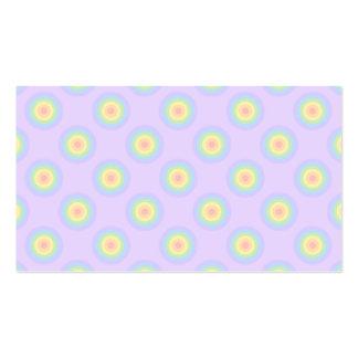 Teste padrão Pastel dos círculos Cartão De Visita