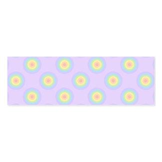 Teste padrão Pastel dos círculos Modelo Cartões De Visitas