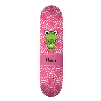 Teste padrão personalizado dos círculos do rosa co skate personalizado