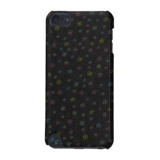 Teste padrão preto bonito do Doodle da flor Capa Para iPod Touch 5G